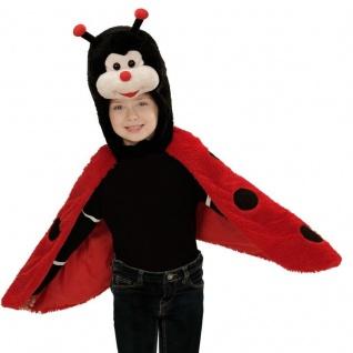MARIENKÄFER PLÜSCH CAPE Kinder Kostüm für 2 - 4 Jahre Umhang Karneval #7434