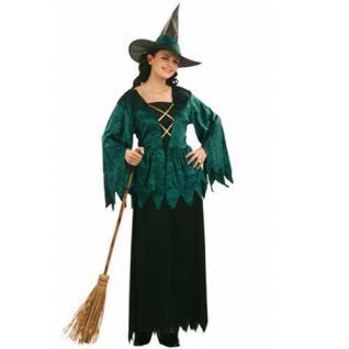 Damen Kostüm Grüne Hexe - Gothic Witch Größe S 36-38 Halloween Karneval