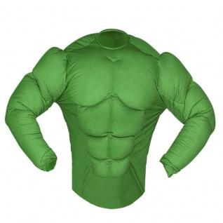 MUSKELSHIRT KOSTÜM 46 (S) grün Hulk Monster Comic Held Muskelprotz 2601