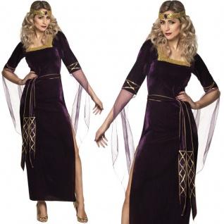 Mittelalter Damen Kostüm 40/42 (M/L) Burgfrau Lady Freifrau Hofdame Kleid #8375