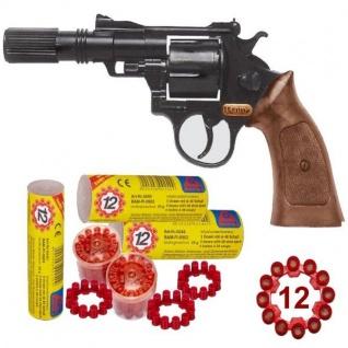 Agent BONNY Spielzeug Pistole mit 720 Schuss Munition Kinder Revolver Colt