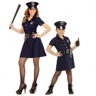 Sexy Polizistin Polizei Police Girl Partner Kostüm Uniform Damen Mädchen Kinder