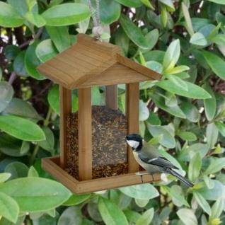 Holz Vogelfutterhaus zum Aufhängen und Befüllen Vogelhaus Futterspender #5724