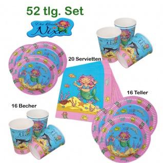 Geburtstags Set 52 tlg. für Kinder* Meerjungfrau kleine Nixe* Teller Becher