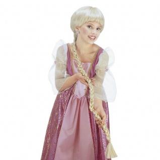 BLONDE KINDER ZOPF PERÜCKE Karneval Fasching Mädchen Prinzessin Kostüm #6290