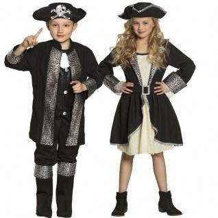 Piratin Pirat Seeräuber Partner Kinder Kostüm für Jungen & Mädchen - Karneval