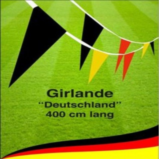 Partygirlande 400cm Deutschland Fan Artikel Dekoration Party WM+EM #95006