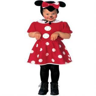 MAUS Kinder Kostüm Mauskostüm mit Kopfbedeckung rot/weiss Auswahl Gr.98 - 110