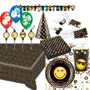 SMILEY-WORLD Alles zum Kinder Geburtstag - Mottoparty Deko Party NEU