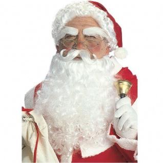 Weihnachtsmann Set - Nikolaus Perücke Bart Mütze Weihnachts Kostüm 1534 NEU