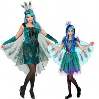 Exklusives PFAUENKOSTÜM für Damen und Mädchen Partner Kostüm - Vogel Pfau