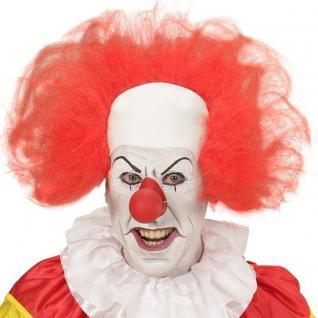 CLOWN GLATZE mit rotem Haarkranz für Erwachsene Perücke Haare Karneval Fasching