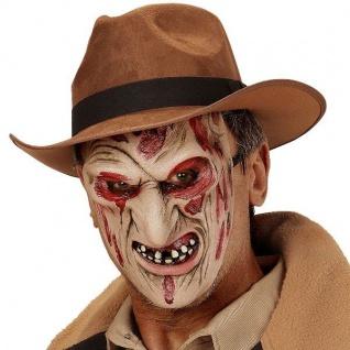 Horror Maske BURNED KILLER Halloween Halbmaske NARBENGESICHT Nightmare 0360