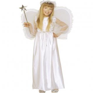 SILBER ENGEL Engelskostüm Mädchen Christkind Kinder Kostüm Kleid 128 140 158