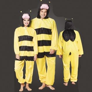 BIENE Bee Plüsch Kostüm - Overall Damen Herren Jumpsuit Junggesellenabschied
