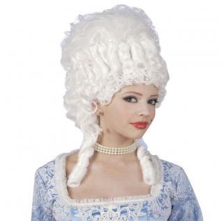 Exklusive ROKOKO PERÜCKE Marie Antoinette weiß Fasching Theaterperücke 1029