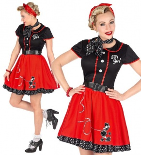 ROCKABILLY PETTICOAT KLEID 42/44 (L) Damen Kostüm Partykleid Cocktailkleid #4836