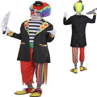 Bunter HORROR CLOWN Herren Kostüm Halloween Karneval Gr. 50 52 54
