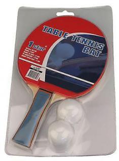 Tischtennisschläger 1 Stern STANDARD + 2 Bälle Tischtennis Schläger