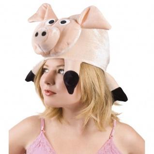 Lustiger Party Hut Tier Mütze - Schwein Ferkel - Karneval Fasching #9948