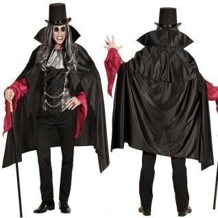 Deluxe Herren Vampir Dracula Kostüm Nosferatu Halloween Karneval Fasching