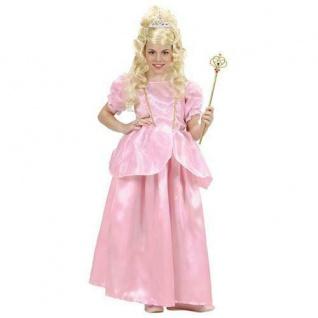 PRINZESSIN KLEID ROSA Kinder Kostüm Gr. 140 Karneval 12767