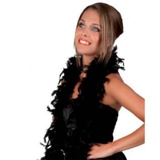 FEDERBOA, schwarz ca. 180 cm PREISHIT Show Mottoparty Damen Federschal