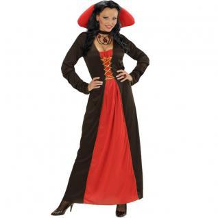 VICTORIAN VAMPIRESS 34/36 (S) Vampirin Damen Kleid Barock Vampir Kostüm 0421