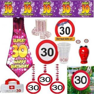 30 Geburtstag Geburtstagsdeko Partyzubehor Dekoration