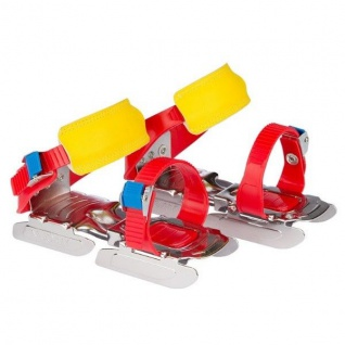 Nijdam Junior Verstellbare Gleitschuhe 24-34 Schlittschuhe blau/rot #3011RBG