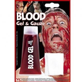 BLUTGEL 42 ml Halloween Wunden Blutimitat Karneval Fasching Blut 4030g