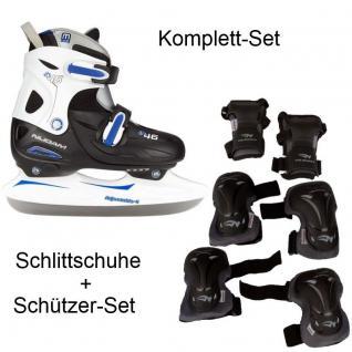 Schlittschuhe Kinder Eislaufen mit Schützer Set 27-30 30-33 34-37 38-41 #2187