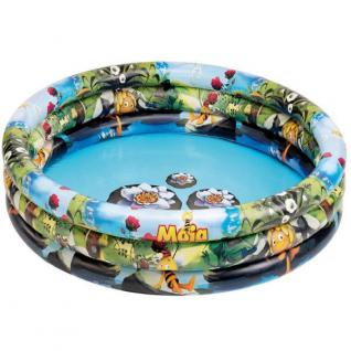 BBIENE MAJA - 3 Ring Pool Kinder Planschbecken Maße aufgeblasen 150 x 35cm TÜV