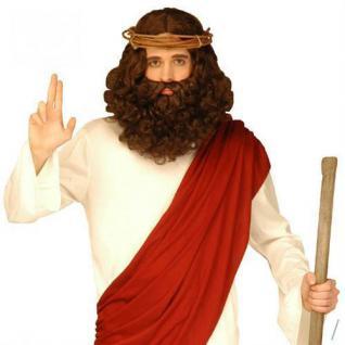 JESUS CHRISTUS PERÜCKE & BART Messias Moses Heiliger Prophet 6262