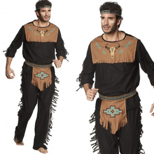Indianer Häuptling 54/56 (XL) Herren Kostüm Wilder Westen Apache Western #3713