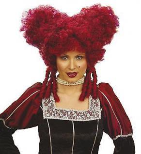 ROTE DAMEN PERÜCKE Karneval Fasching Barock Rokoko Kostüm Party 6325r