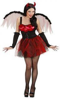 Sexy Teufelin Damen Kostüm Halloween Karneval Teufel Gr. L 42 44 (8983)