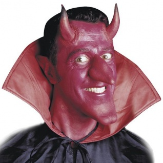 TEUFELSHÖRNER Latex Halloween Teufelhörner Satan Teufel Kostüm Zubehör 4132c