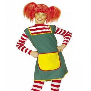 Kinder Kostüm Starkes Mädchen Karneval Fasching Langstrumpf 128 140 158