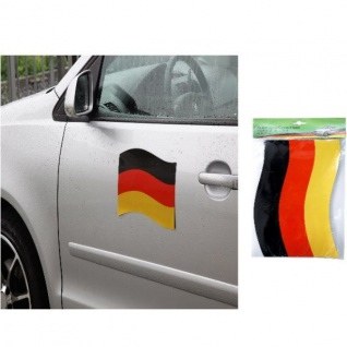2x Automagnet Auto Fahne 21x25cm Deutschland Fan Artikel Dekoration WM+EM #12939