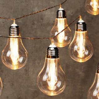 LED Lichterkette Glühbirnen 10 LED 6/18h Timer Batterie ichterkette Tolle Optik