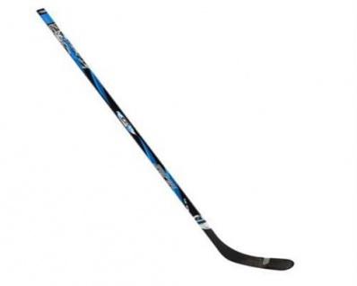 Profi Eishockey Schläger Links 137cm Schwarz / Blau Holz Glasfiber #0183ZBZ