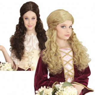Mittelalter Kinder Perücke Kostüm Barock Rokoko Prinzessin Königin Perrücke