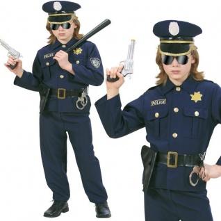 Polizist Polizei Kinder Kostüm Gr. 116 Police Officer NEU Jungen Karneval #7316