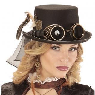 Steampunk Hut Gothic ZYLINDER Viktorianische Kopfbedeckung Retro Punk #0814