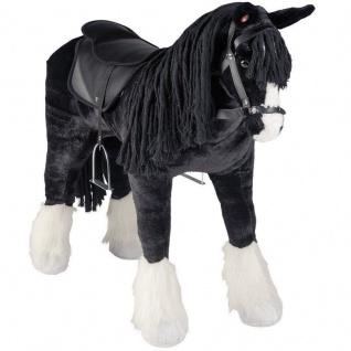 Plüsch Pferd - SHIRE HORSE - REITPFERD mit Sound Stehend Kinder Spielzeug #58046