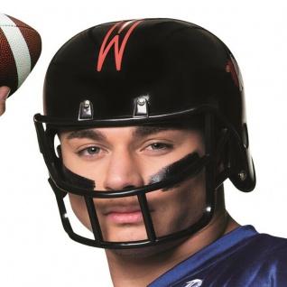 American Football Helm schwarz-rot Sport Kostüm Zubehör - Karneval Fasching