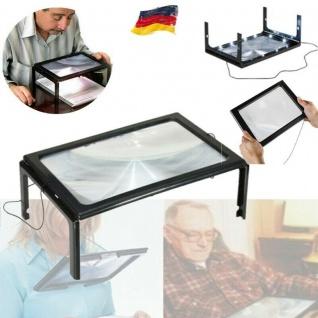 Tischlupe Standlupe A4 LED Licht faltbar Lesehilfe Senioren Lupe Leselupe
