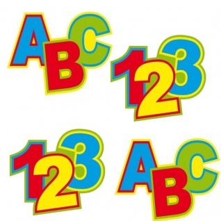 XL Konfetti 1 Tüte 12 x Buchstaben & 12 x Zahlen Schulanfang Einschulung #1339