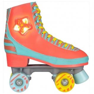 Rollschuhe Kinder Roller Skates Rollerskates LED Star Zebra - Modell 2018 NEU